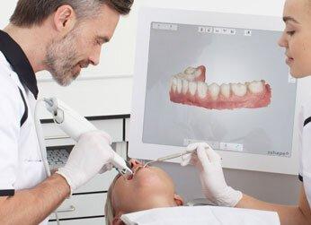 Обработка и сканирование зубов